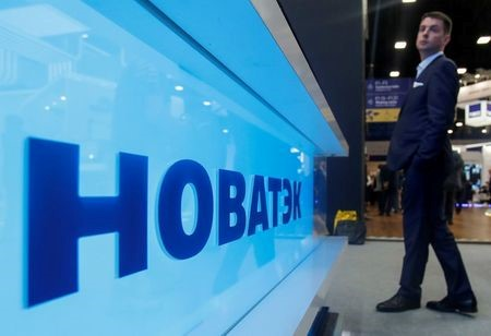 The logo of Russian gas producer Novatek is seen on a board at the St. Petersburg International Economic Forum (SPIEF), Russia, June 6, 2019. REUTERS/Maxim ShemetovThe logo of Russian gas producer Novatek is seen on a board at the St. Petersburg International Economic Forum (SPIEF), Russia, June 6, 2019. REUTERS/Maxim Shemetov