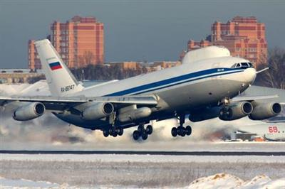 Ilyushin Il-80, Russian military aircraft modified from the Ilyushin Il-86 airliner, known as the Doomsday Plane, is seen in Moscow region, Russia February 9, 2012. Picture taken February 9, 2012. REUTERS/Artyom Anikeev