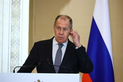 FILE PHOTO: Russia's Foreign Minister Sergei Lavrov attends a news conference following talks with UAE's Foreign Minister Abdullah Bin Zayed Al Nahyan in Abu Dhabi, United Arab Emirates March 9, 2021. Russian Foreign Ministry/Handout via REUTERS