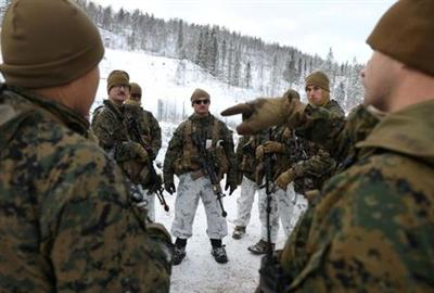 FILE PHOTO: U.S. marines from Fox Company, 2nd Battalion, 6th Marine Regiment, part of Marine Rotational Force - Europe take part in