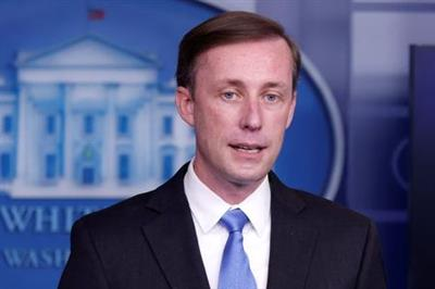 White House National Security Advisor Jake Sullivan delivers remarks during a press briefing inside the White House in Washington, U.S., February 4, 2021. REUTERS/Tom Brenner