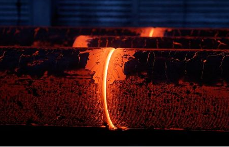 Red-hot steel billets are pictured at Pervouralsk New Pipe Plant owned by ChelPipe Group in Pervouralsk in Sverdlovsk Region, Russia February 27, 2020. Picture taken February 27, 2020. REUTERS/Maxim Shemetov