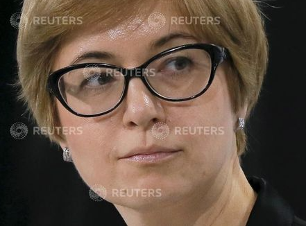 Ksenia Yudaeva, First Deputy Governor of Bank of Russia, attends a session of the Gaidar Forum 2016's;Russia and the World: Looking to the Future's; in Moscow, Russia, January 13, 2016. REUTERS/Maxim Shemetov