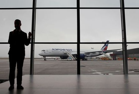 A view shows the first Airbus A350-900 aircraft of Russia's flagship airline Aeroflot during a media presentation at Sheremetyevo International Airport outside Moscow, Russia March 4, 2020. REUTERS/Maxim Shemetov