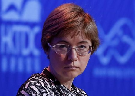 Ksenia Yudaeva, First Deputy Governor of the Bank of Russia, attends the Asian Financial Forum in Hong Kong, China January 16, 2017. REUTERS/Bobby Yip
