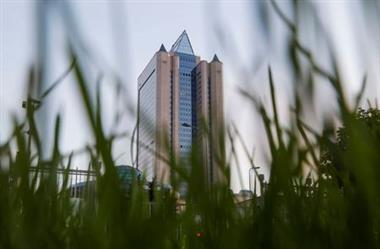 A view shows the headquarters of Gazprom in Moscow, Russia May 17, 2021. Picture taken May 17, 2021. REUTERS/Maxim Shemetov
