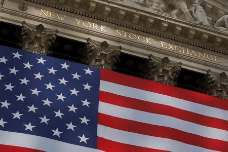 The U.S. flag is seen outside of the New York Stock Exchange (NYSE) in New York City, U.S., September 21, 2020. REUTERS/Andrew Kelly