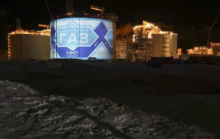 A general view shows the facilities of Yamal LNG, Russia's second liquefied natural gas plant, which is under construction in the Arctic port of Sabetta, Yamalo-Nenets district, Russia December 8, 2017. REUTERS/Oksana Kobzeva