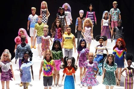 New Barbie dolls from Mattel are pictured in the Manhattan borough of New York City, New York, U.S., February 21, 2020. REUTERS/Carlo Allegri