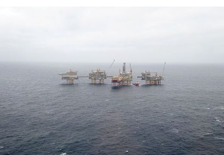 A general view of the Equinor's Johan Sverdrup oilfield platforms in the North Sea, Norway December 3, 2019. REUTERS/Ints Kalnins