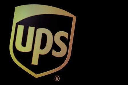 The company logo for United Parcel Service (UPS), is displayed on a screen at the New York Stock Exchange (NYSE) in New York, U.S., October 22, 2019. REUTERS/Brendan McDermid