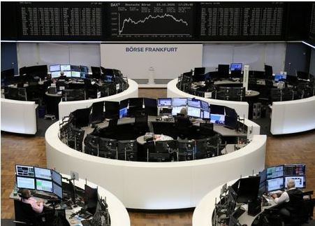 The German share price index DAX graph is pictured at the stock exchange in Frankfurt, Germany, October 23, 2020. REUTERS/Staff