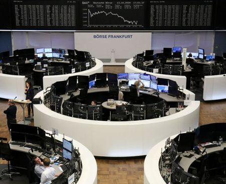 The German share price index DAX graph is pictured at the stock exchange in Frankfurt, Germany, October 13, 2020. REUTERS/Staff