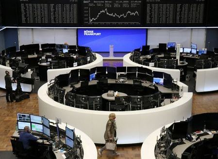 The German share price index DAX graph is pictured at the stock exchange in Frankfurt, Germany, November 13, 2020. REUTERS/Staff