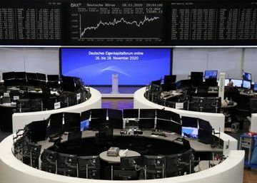 The German share price index DAX graph is pictured at the stock exchange in Frankfurt, Germany, November 18, 2020. REUTERS/Staff