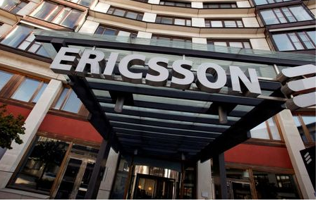 The exterior of Ericsson's headquarters is seen in Stockholm April 30, 2009. REUTERS/Bob Strong/File Photo GLOBAL BUSINESS WEEK AHEAD PACKAGE SEARCH BUSINESS WEEK AHEAD 17 OCT FOR ALL IMAGES