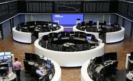 The German share price index DAX graph is pictured at the stock exchange in Frankfurt, Germany, January 15, 2021. REUTERS/Staff