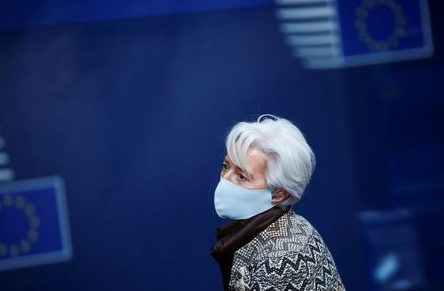 European Central Bank President Christine Lagarde leaves an EU summit amid the coronavirus disease (COVID-19) outbreak in Brussels, Belgium December 11, 2020. Fransisco Seco/Pool via REUTERS