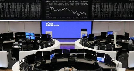 The German share price index DAX graph is pictured at the stock exchange in Frankfurt, Germany, January 21, 2021. REUTERS/Staff
