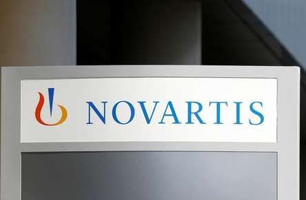 The logo of Swiss drugmaker Novartis is pictured at the French company's headquarters in Rueil-Malmaison near Paris, France, April 22, 2020. REUTERS/Charles Platiau