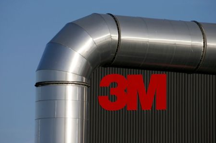 The logo of 3M is seen at the 3M Tilloy plant in Tilloy-Lez-Cambrai, France, August 18, 2019. REUTERS/Pascal Rossignol