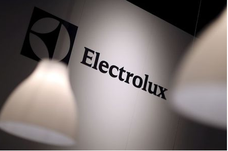 The Electrolux logo is seen during the IFA Electronics show in Berlin, Germany September 4, 2014. REUTERS/Hannibal Hanschke/File Photo GLOBAL BUSINESS WEEK AHEAD PACKAGE - SEARCH 'BUSINESS WEEK AHEAD 24 OCT' FOR ALL IMAGES