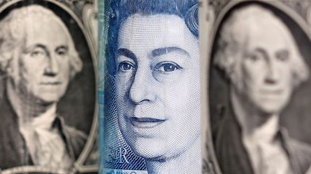 Pound and U.S. dollar banknotes are seen in this illustration taken January 6, 2020. REUTERS/Dado Ruvic/Illustration