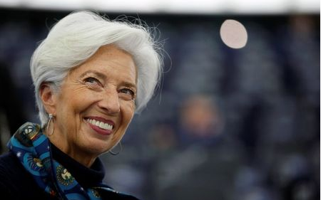 European Central Bank President Christine Lagarde smiles before addressing the European Parliament during a debate on the 2018 annual report of the ECB in Strasbourg, France, February 11, 2020. REUTERS/Vincent Kessler
