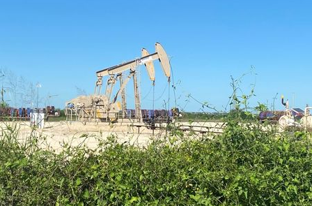 Oil pumps are seen, as oil and gas activity dips in the Eagle Ford Shale oil field due to the coronavirus disease (COVID-19) pandemic and the drop in demand for oil globally, in Karnes County, Texas, U.S., May 18, 2020. Picture taken May 18, 2020. REUTERS/Jennifer Hiller