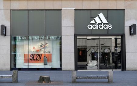 A closed Adidas store is pictured during the spread of the coronavirus disease (COVID-19) in Hamburg, Germany March 28, 2020. REUTERS/Fabian Bimmer