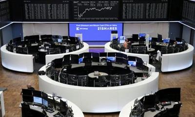 The German share price index DAX graph is pictured at the stock exchange in Frankfurt, Germany, March 9, 2021. REUTERS/Staff