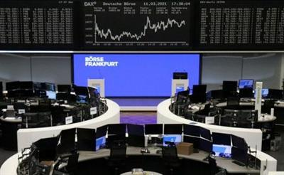 The German share price index DAX graph is pictured at the stock exchange in Frankfurt, Germany, March 11, 2021. REUTERS/Staff