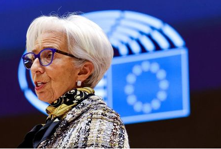 FILE PHOTO: FILE PHOTO: European Central Bank President Christine Lagarde at the European Parliament in Brussels, Belgium February 8, 2021. Olivier Matthys/Pool via REUTERS//File Photo