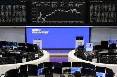 The German share price index DAX graph is pictured at the stock exchange in Frankfurt, Germany, March 2, 2021. REUTERS/Staff