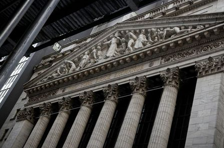 The front facade of the New York Stock Exchange (NYSE) is seen in New York, U.S., March 1, 2021. REUTERS/Brendan McDermid