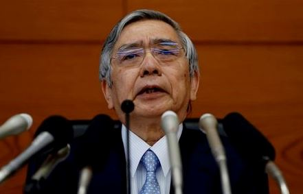 FILE PHOTO: Bank of Japan (BOJ) Governor Haruhiko Kuroda attends a news conference at the BOJ headquarters in Tokyo, Japan July 30, 2019. REUTERS/Kim Kyung-Hoon/File Photo