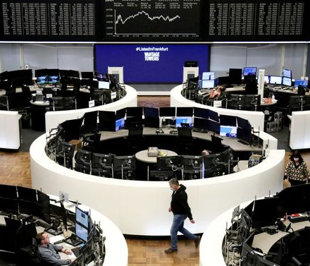 The German share price index DAX graph is pictured at the stock exchange in Frankfurt, Germany, March 18, 2021. REUTERS/Staff