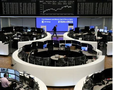 The German share price index DAX graph is pictured at the stock exchange in Frankfurt, Germany, March 10, 2021. REUTERS/Staff
