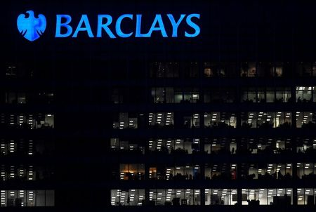 Workers are seen at Barclays bank offices in the Canary Wharf financial district in London, Britain, November 17, 2017. REUTERS/Toby Melville