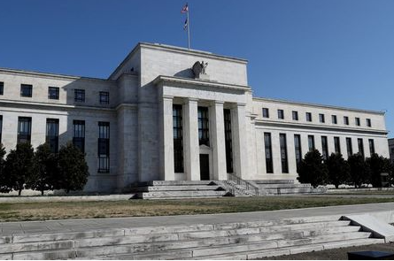 FILE PHOTO: Federal Reserve Board building on Constitution Avenue is pictured in Washington, U.S., March 19, 2019. REUTERS/Leah Millis/File Photo
