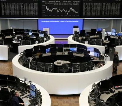 The German share price index DAX graph is pictured at the stock exchange in Frankfurt, Germany, April 14, 2021. REUTERS/Staff