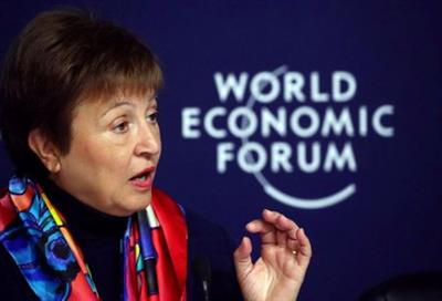 IMF Managing Director Kristalina Georgieva attends a news conference ahead of the World Economic Forum (WEF) in Davos, Switzerland January 20, 2020. REUTERS/Denis Balibouse
