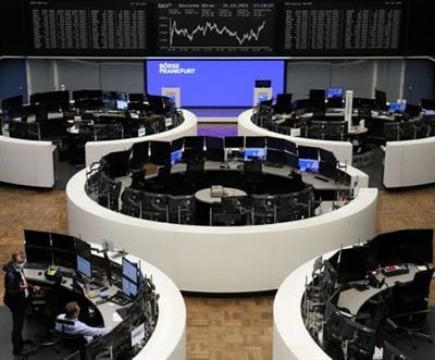 The German share price index DAX graph is pictured at the stock exchange in Frankfurt, Germany, March 31, 2021. REUTERS/Staff