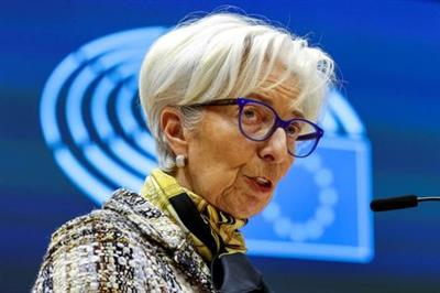 European Central Bank President Christine Lagarde addresses European lawmakers during a plenary session at the European Parliament in Brussels, Belgium February 8, 2021. Olivier Matthys/Pool via REUTERS