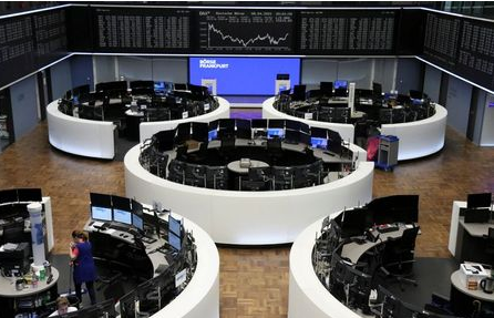 The German share price index DAX graph is pictured at the stock exchange in Frankfurt, Germany, April 8, 2021. REUTERS/Staff