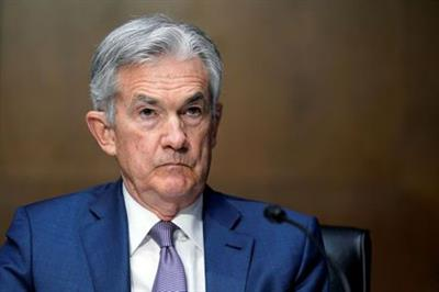 Federal Reserve Chairman Jerome Powell testifies before the Senate Banking Committee hearing on