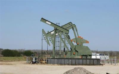 FILE PHOTO: A pump jack stands idle in Dewitt County, Texas January 13, 2016. REUTERS/Anna Driver/File Photo