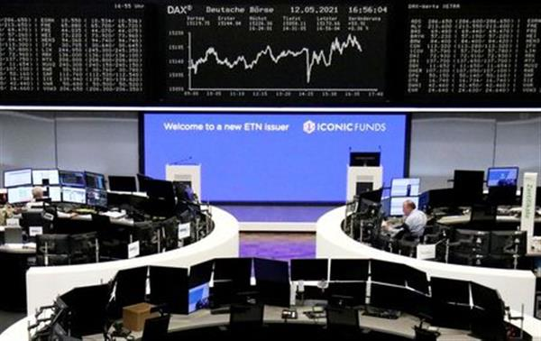 The German share price index DAX graph is pictured at the stock exchange in Frankfurt, Germany, May 12, 2021. REUTERS/Staff