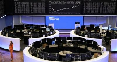 The German share price index DAX graph is pictured at the stock exchange in Frankfurt, Germany, May 14, 2021. REUTERS/Staff