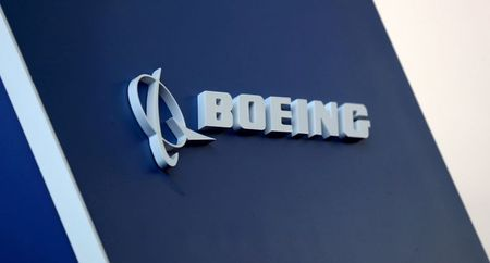 The Boeing logo is pictured at the Latin American Business Aviation Conference & Exhibition fair at Congonhas Airport in Sao Paulo, Brazil August 14, 2018. REUTERS/Paulo Whitaker/File Photo